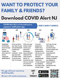 COVID Alert NJ infographic